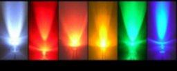 5mm InGaN (Blanco, Azul, Verde Puro) LEDs